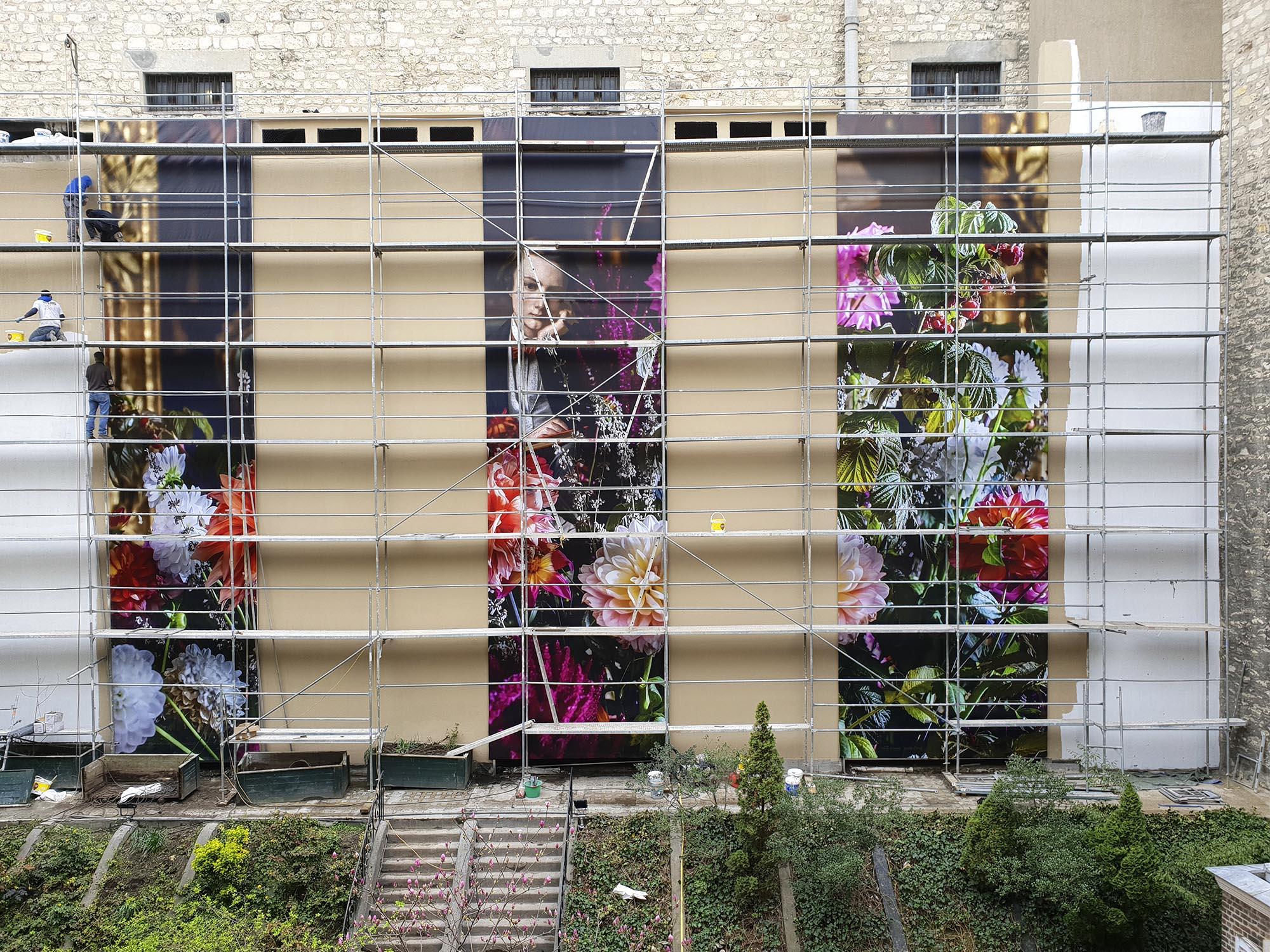 Nicolas d'Ursel et Fabien de Cugnac -Hôtel Alfred Sommier, Paris - Installation des bâches